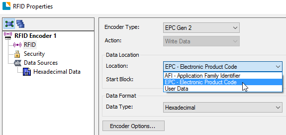How to set up a RFID encoder object – BarTender Support Portal