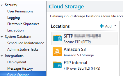 How to work with Amazon AWS S3 as a cloud storage location