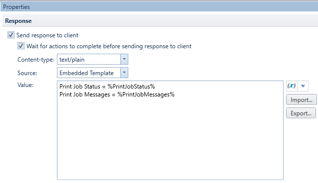 Printing Database Records through a Web Service Integration